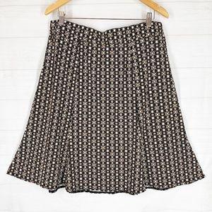 Sag Harbor L Flared Skater Skirt Polka Dots